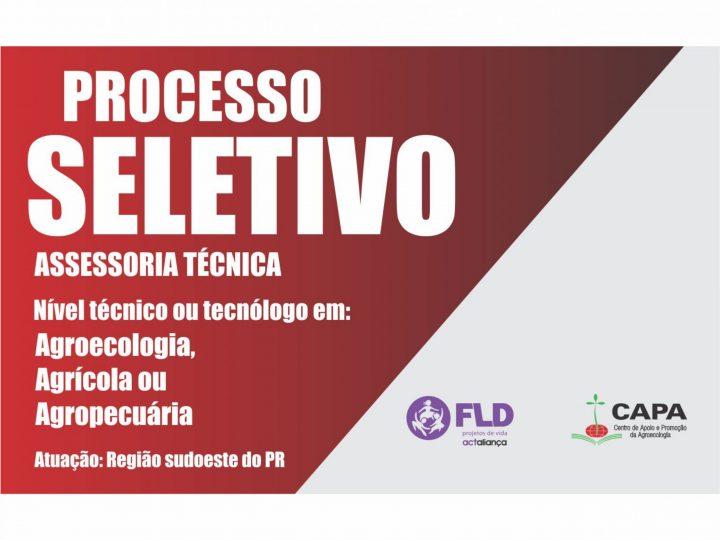 FLD-CAPA abre processo seletivo para assessoria técnica na região sudoeste do paraná