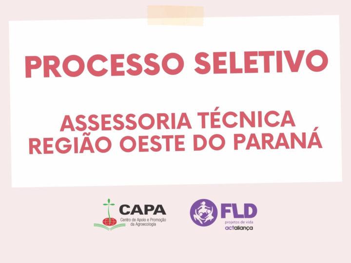 #ENCERRADA – Seleção para o cargo de Assessoria Técnica na região Oeste do Paraná