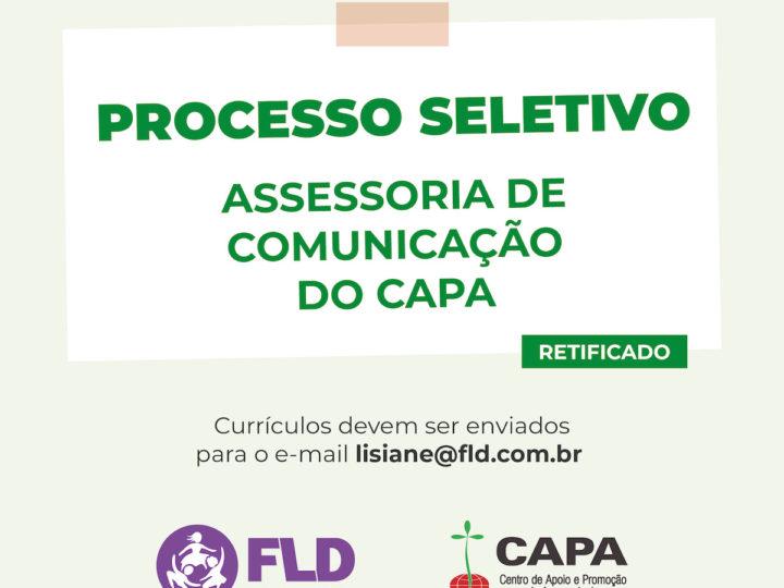 Centro de Apoio e Promoção da Agroecologia (CAPA) seleciona Assessoria de Comunicação