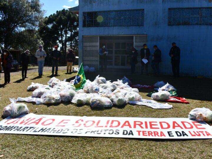Ação solidária no Sudoeste do Paraná une trabalhadoras e trabalhadores do campo e da cidade