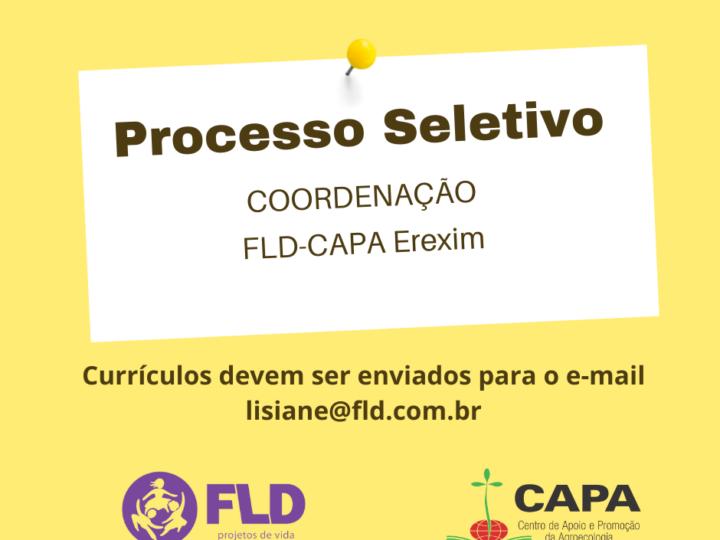FLD-CAPA Erexim seleciona pessoa para a coordenação